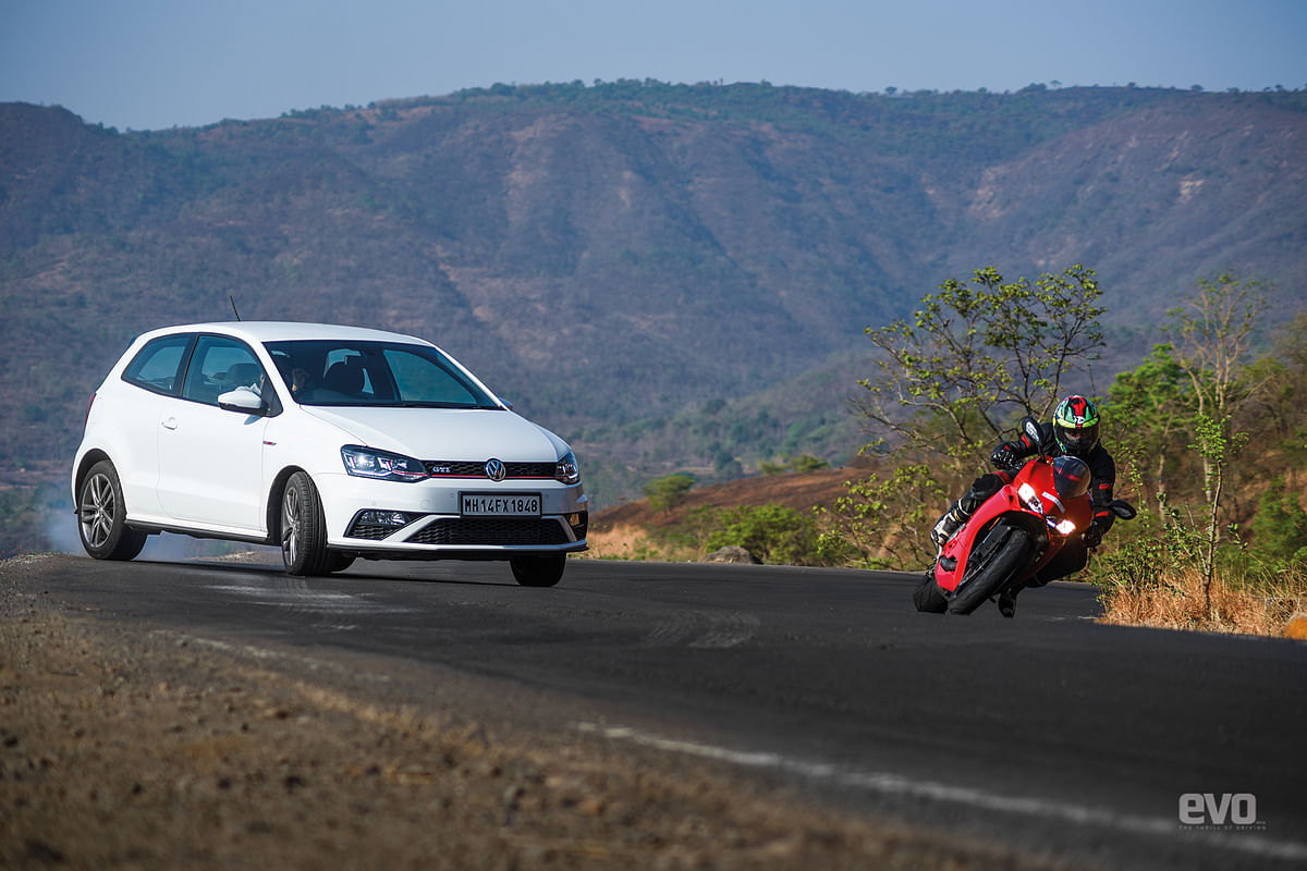 Thrill of Driving or Riding? Volkswagen Polo GTI or Ducati 959 Panigale?