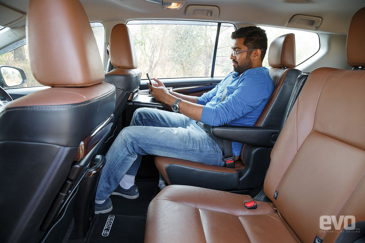 Plush seats and plenty of room in the Innova Crysta