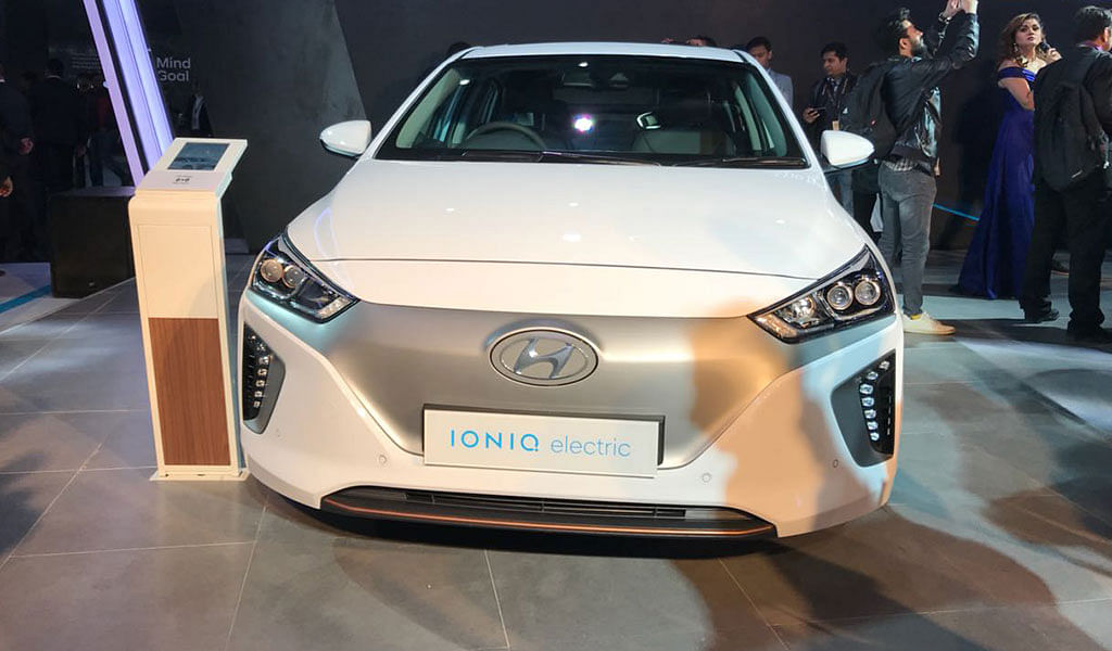 Auto Expo 2018: Hyundai showcases Ioniq EV concept