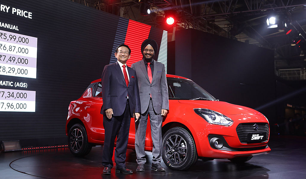 Auto Expo 2018: 2018 Swift launched at Rs. 4.99 lakh