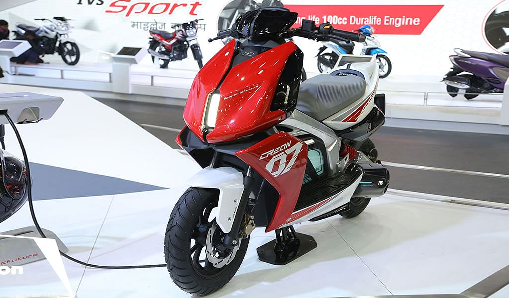 Auto Expo 2018: TVS showcase Zeppelin, Creon and Apache RTR 200 Fi Ethanol