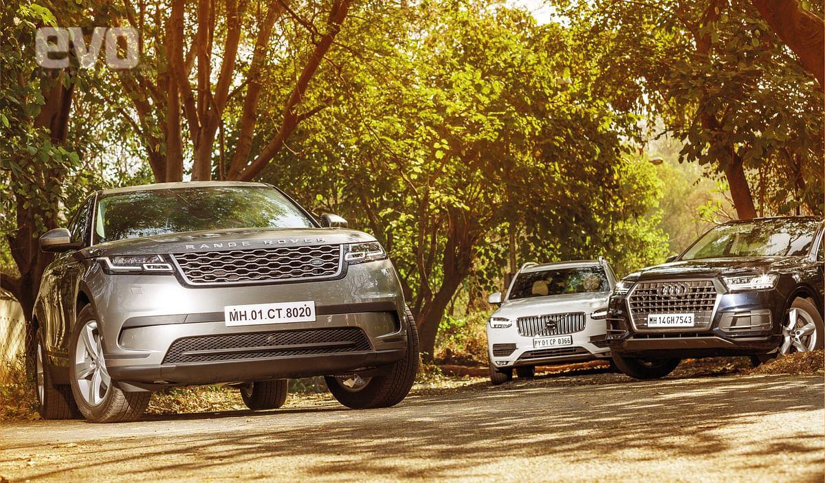 Style over substance: Range Rover Velar v Audi Q7 v Volvo XC90