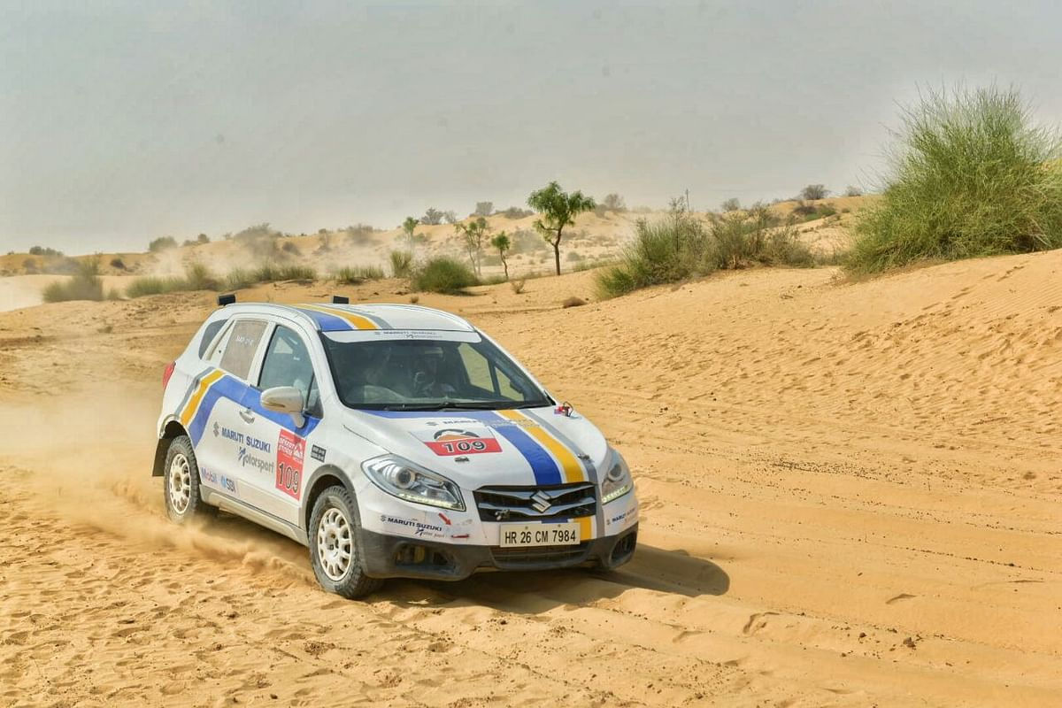 Suresh Rana and CS Santosh in lead after day one of the Desert Storm 2018