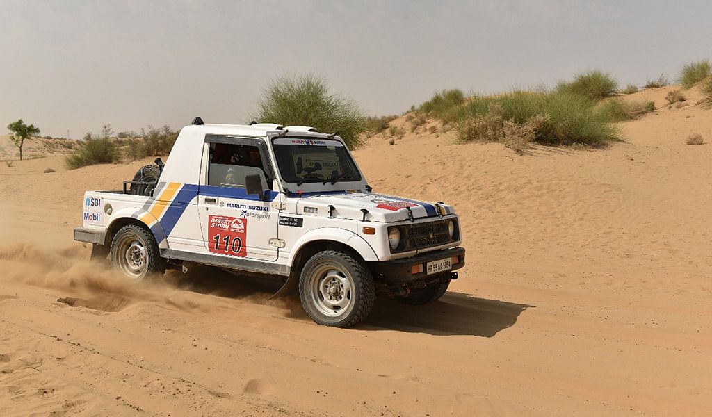 Maruti Suzuki Desert Storm Day 2: R Natraj and Aishwarya Pissay retire from the rally
