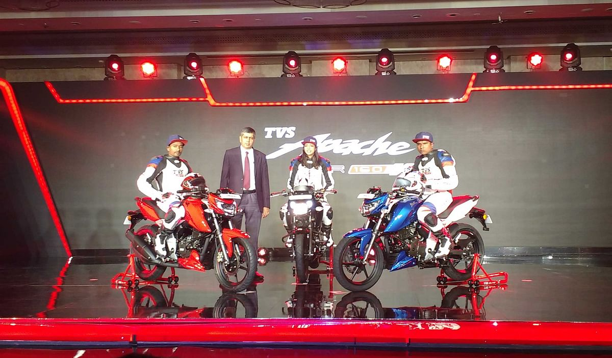 TVS Apache RTR 160 4v launched