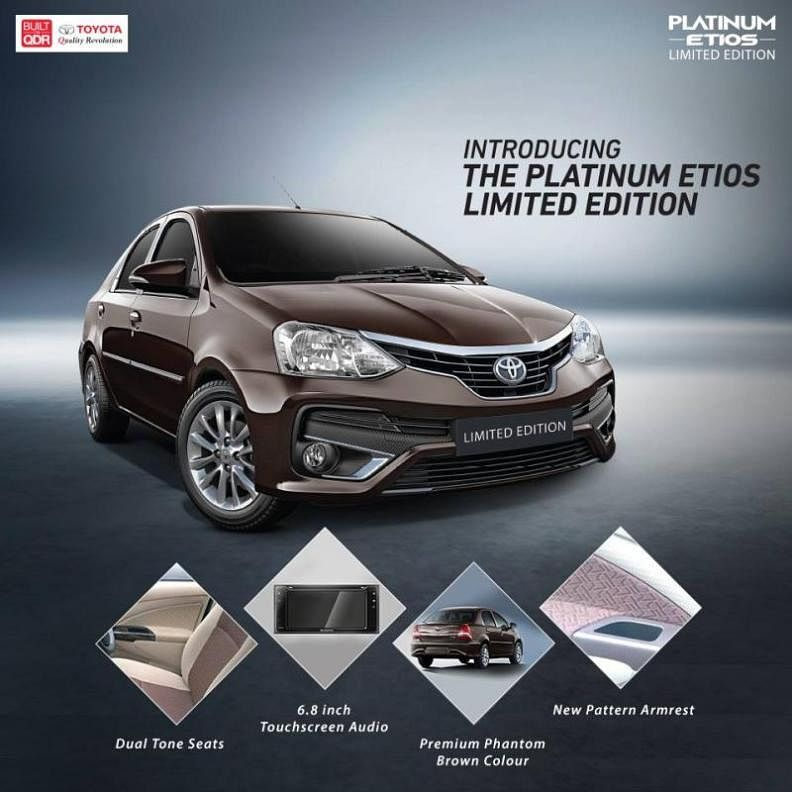 Limited edition Toyota Platinum Etios launched