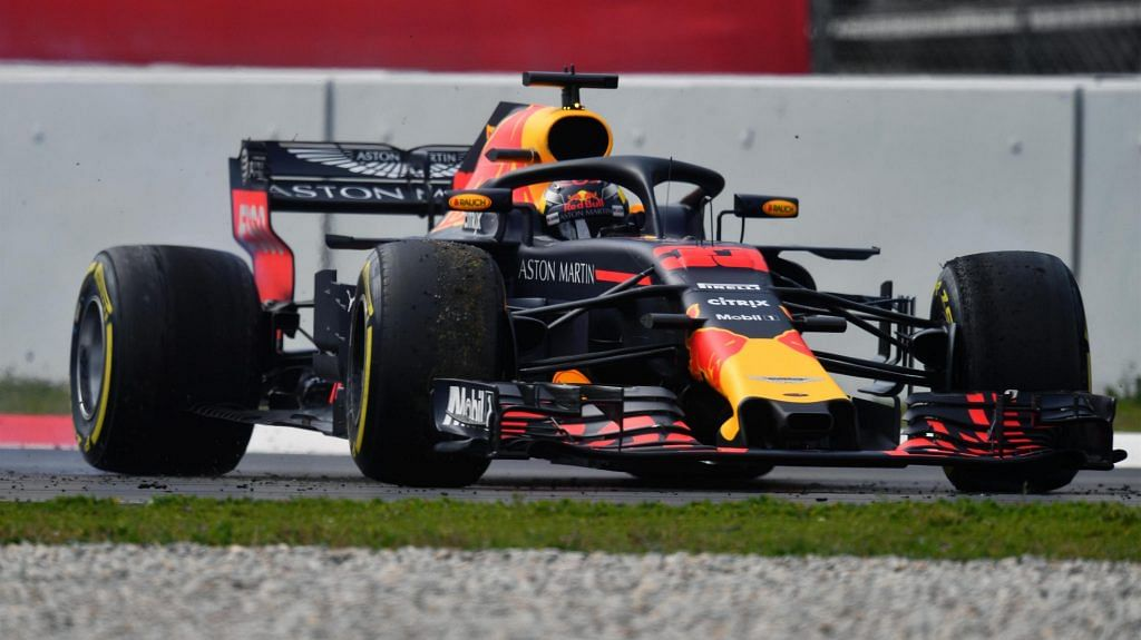 Red Bull is close behind Mercedes and Ferrari