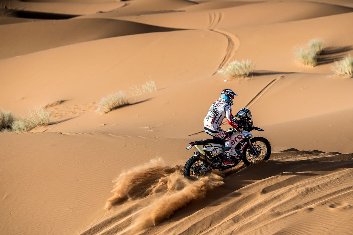 Merzouga Rally 2018 Day 2: 21st place for C S Santosh in overall standings