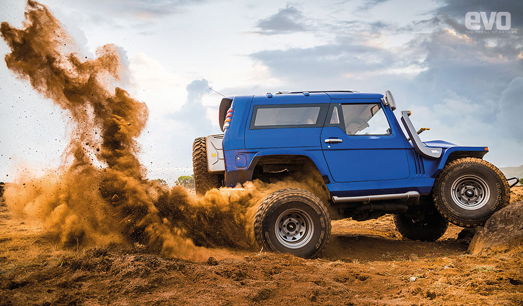 Kicking up some dust!