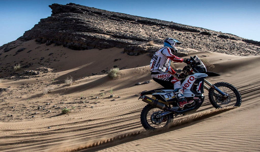 Merzouga Rally 2018 Day 3: Sherco TVS riders Pedrero and Santilino finish in top 10 overall