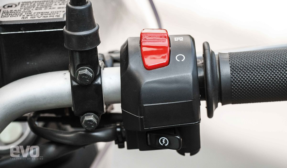 Why don't you put the hazard light toggle switch here, Royal Enfield?