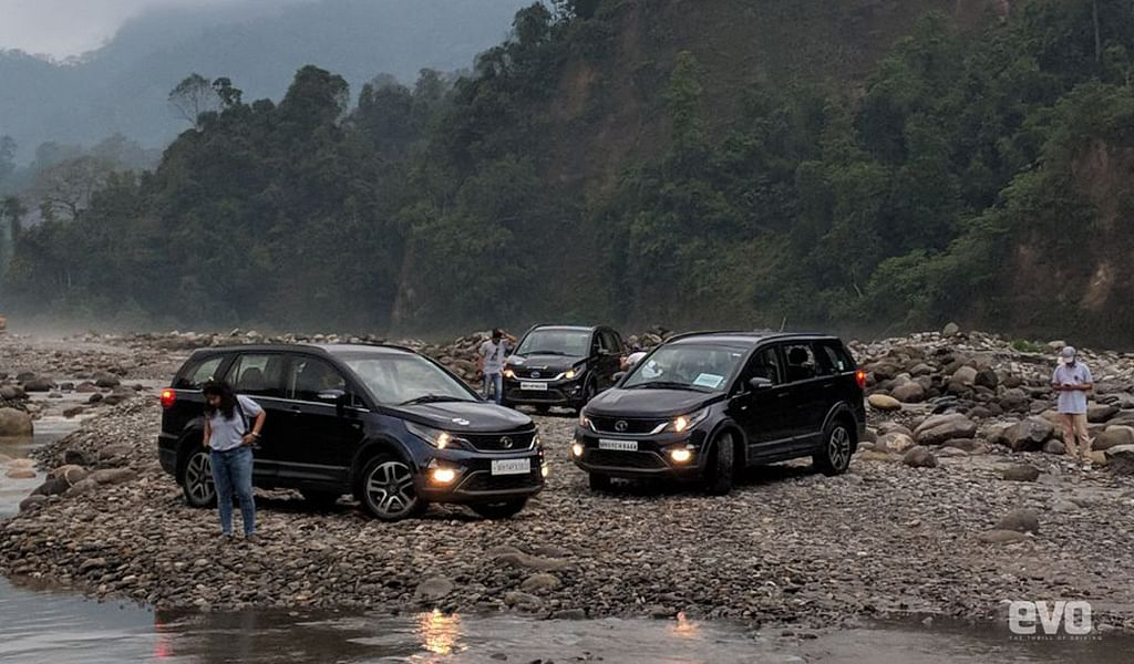 Tata Hexa owners by the river