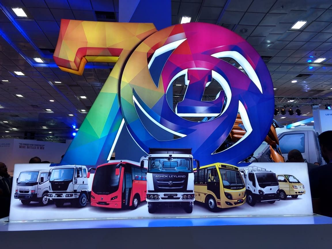 Ashok Leyland showcase their vehicle line-up at the Global Conference 2018