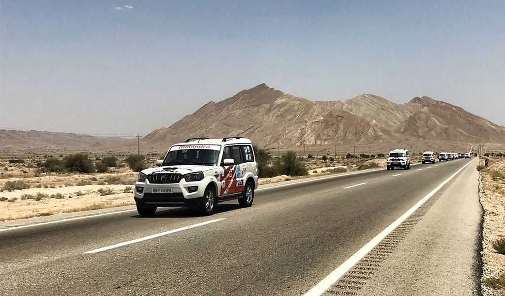 Discovering Iran's excellent road network on the INSTC Friendship rally
