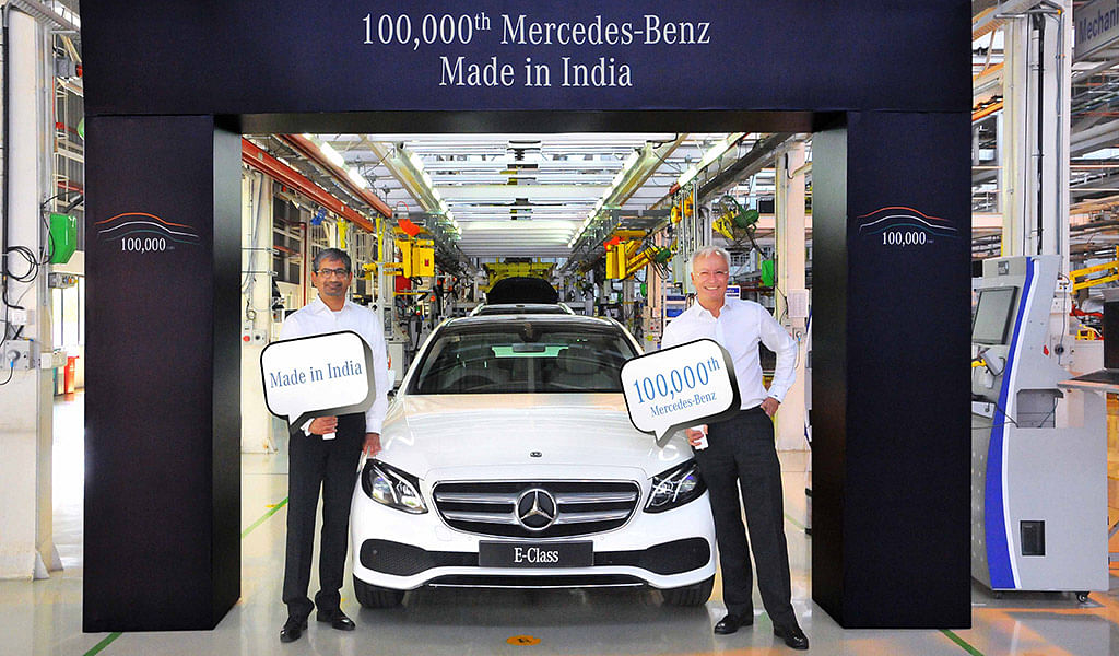 Mercedes-Benz India rolls out 100,000th car and it is an E-Class!
