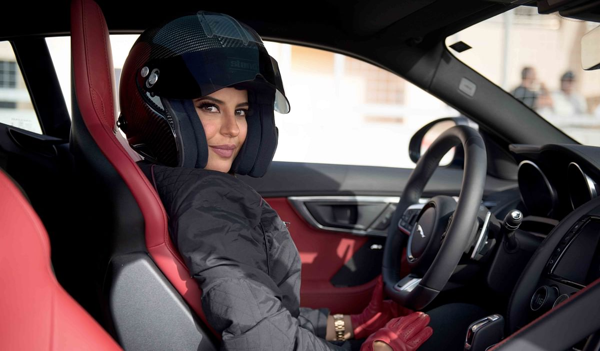 Saudi Woman Aseel-Al-Hamad partners with Jaguar to commemorate lifted ban