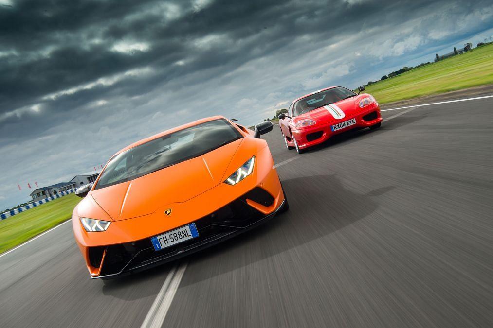 Ferrari 360 Challenge Stradale vs Lamborghini Huracán Performante: old vs modern track tuned supercars