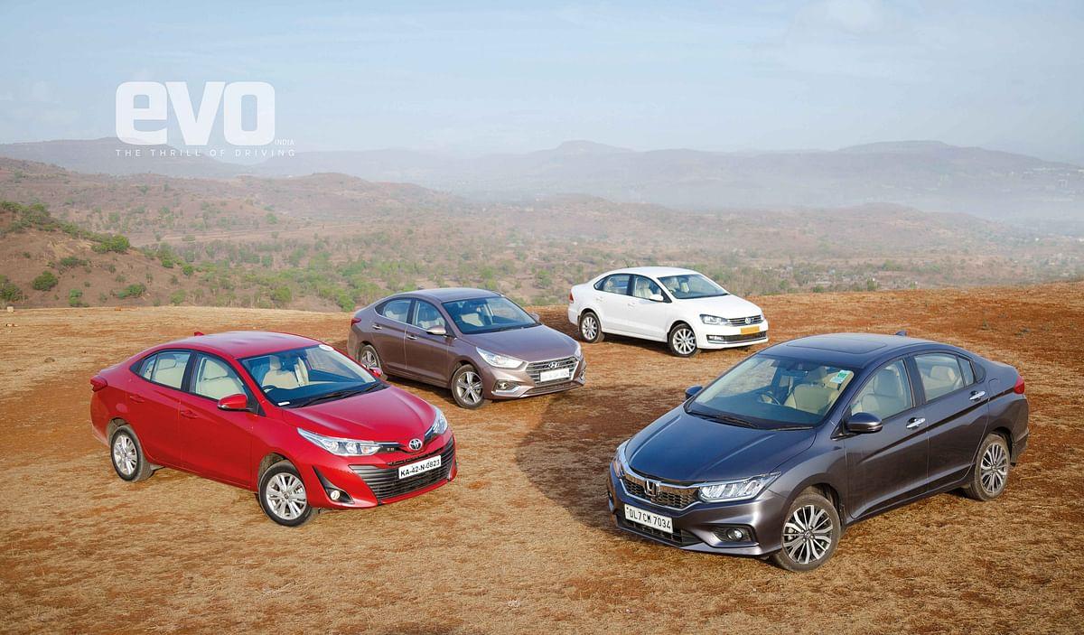 C-segment comparo: Toyota Yaris v Honda City v Hyundai Verna v Volkswagen Vento