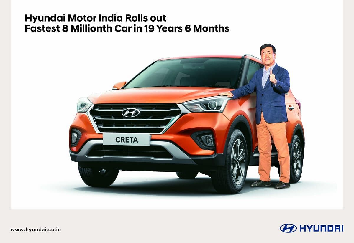 A milestone for Hyundai India: 8 millionth car rolls out of assembly lines