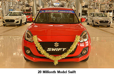 Suzuki Motor Corporation reaches an accumulated production of 20 million units in India