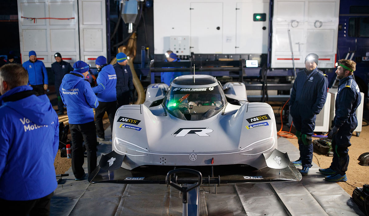 Dumas sets fastest qualifying time in Volkswagen's I.D. R Pikes Peak