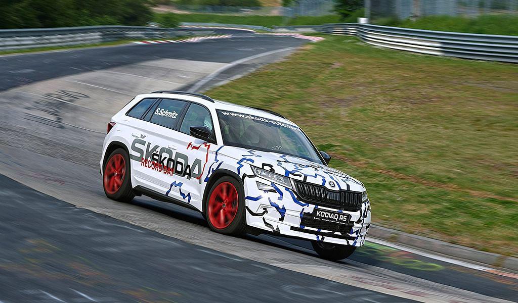 Skoda Kodiaq vRS sets Nürburgring track record