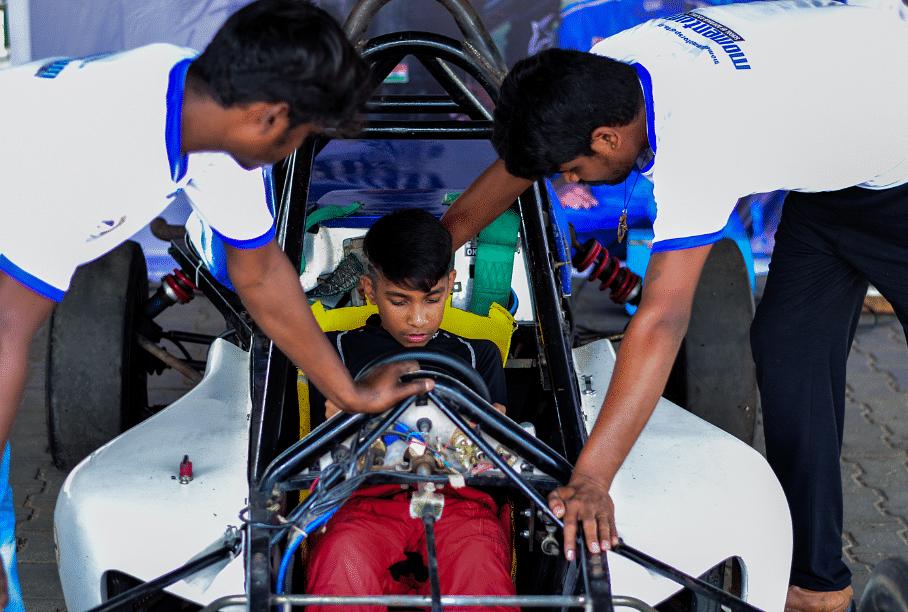 Tijil Rao overcomes clubfoot to make heroic debut at MRF INRC's Formula LGB 1300