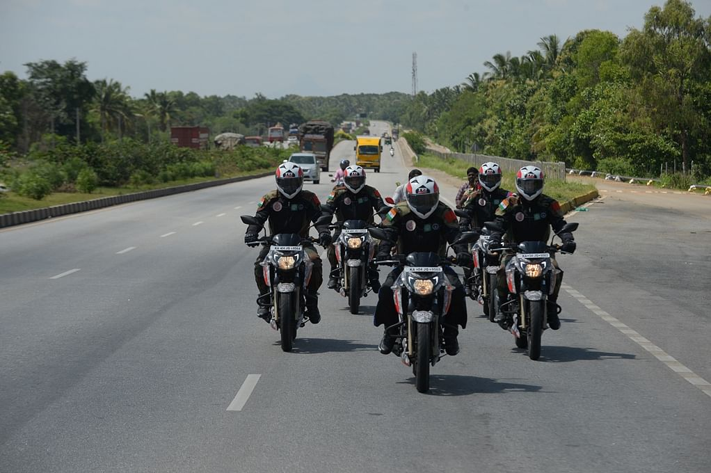 Motorcycle Expedition flagged off from Bengaluru by Corps of Military Police