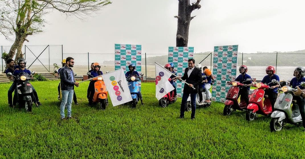 Piaggio India flags off the first edition of Vespa tours in Goa