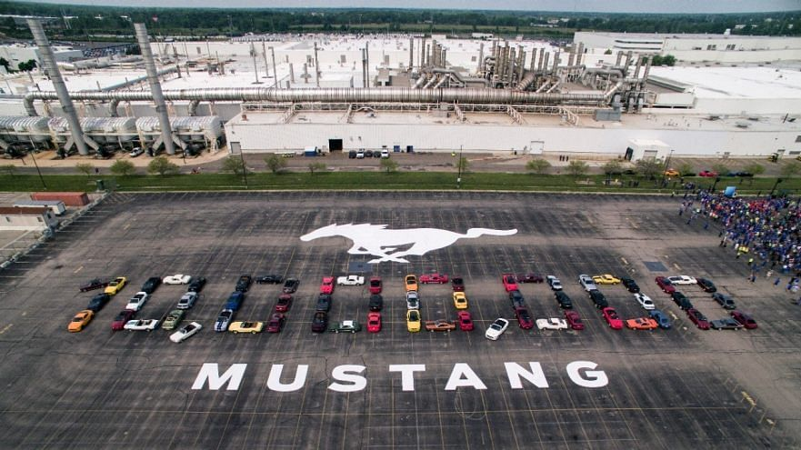 Ford rolls out its 10 millionth Mustang from its Michigan facility