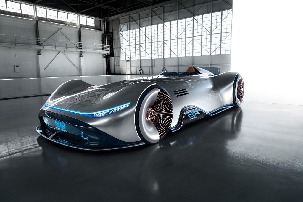 Mercedes-Benz previews Vision EQ Silver Arrow
