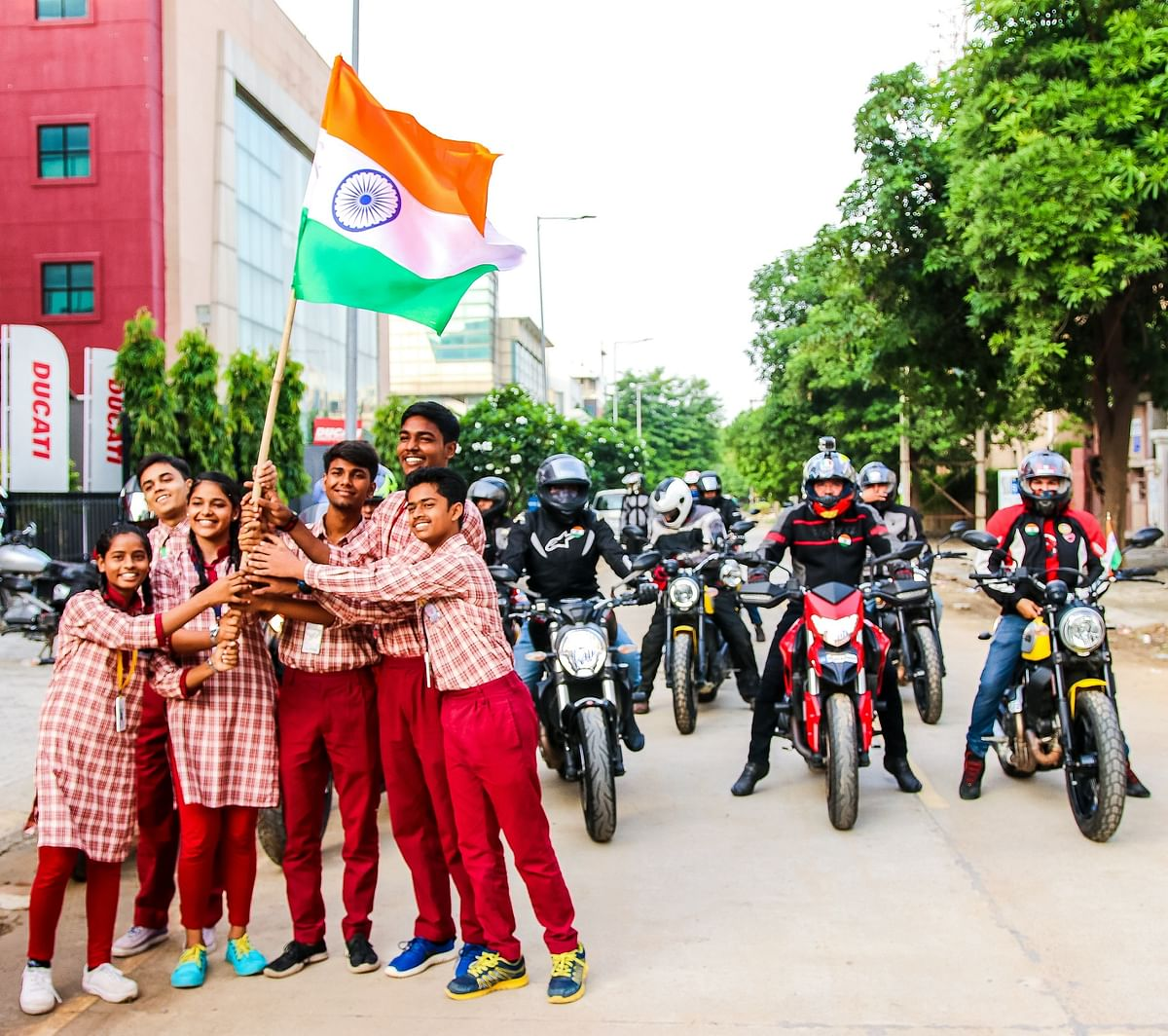 Ducati India celebrates Independence Day with Lotus Petal Foundation
