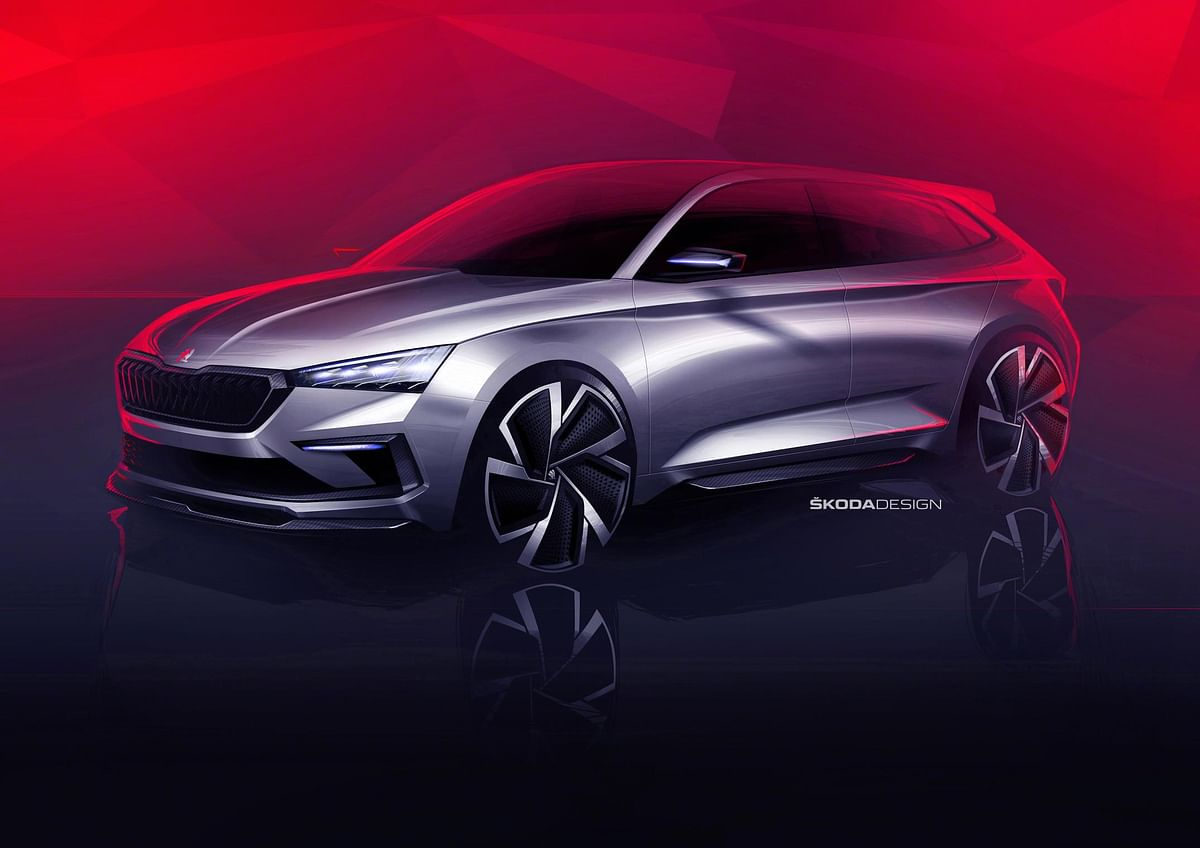 Skoda reveals sketches of its upcoming compact SUV