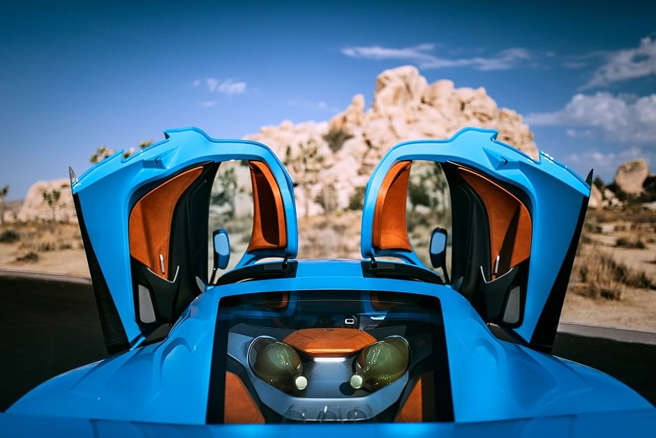 Rimac C Two goes all blue at Pebble Beach