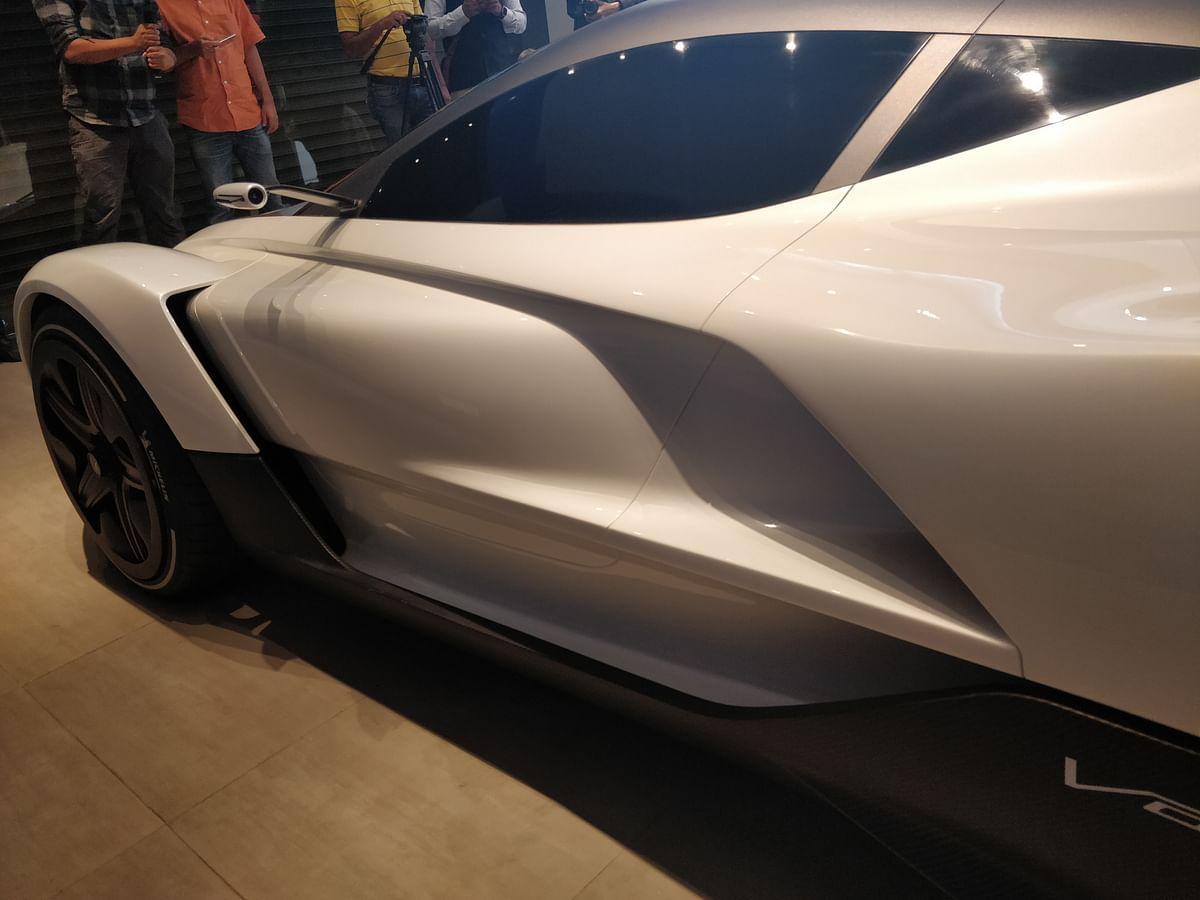 Vazirani Automotive showcases the Shul hypercar concept in India