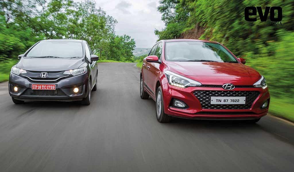 Premium hatchback comparo: Hyundai Elite i20 vs Honda Jazz
