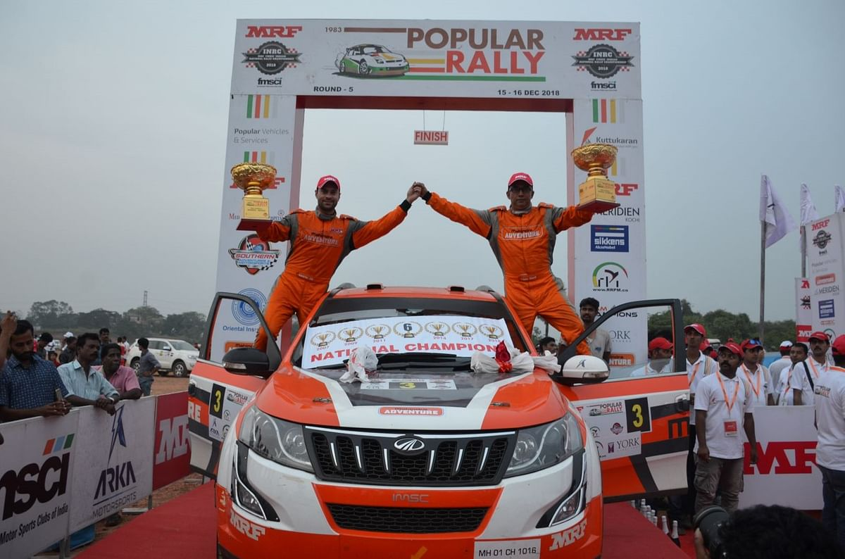 The winning duo from Mahindra Adventure at the Popular Rally