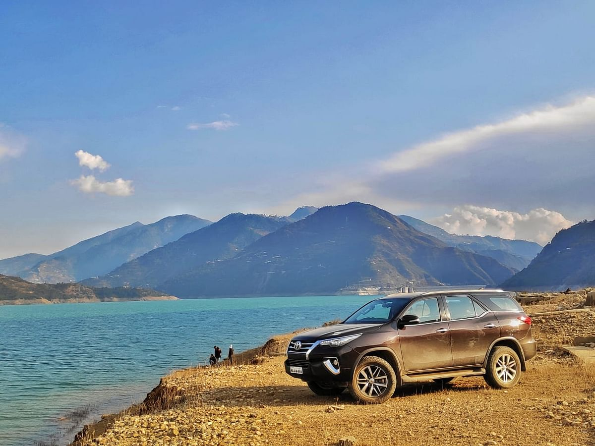 Driving the Toyota Fortuner to Devaprayag and Tehri Dam