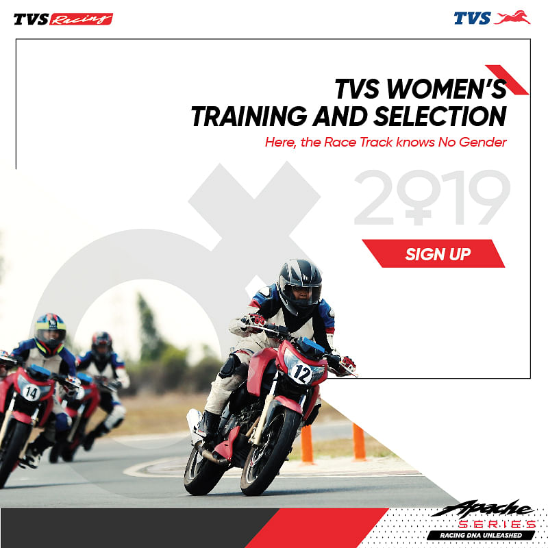 Selection trial dates for 2019 TVS Ladies One Make Championship announced