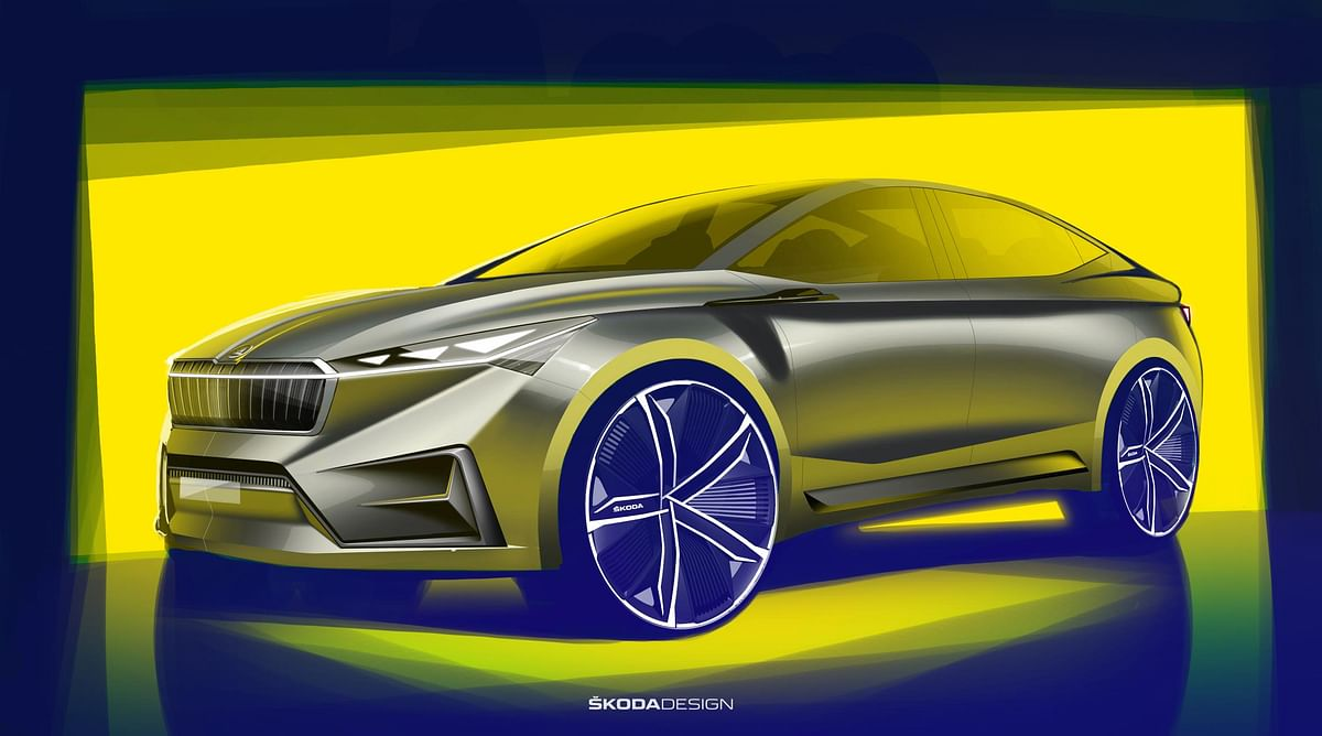 Skoda releases sketches of Vision iV concept