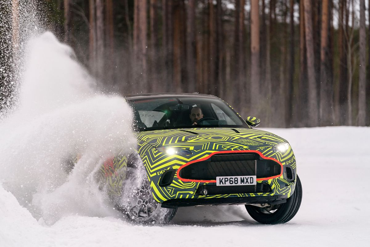 Aston Martin testing its DBX SUV concept to the exteme in Sweden