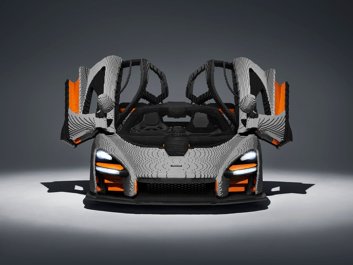 Lego makes full-scale replica of McLaren Senna using nearly half a million bricks