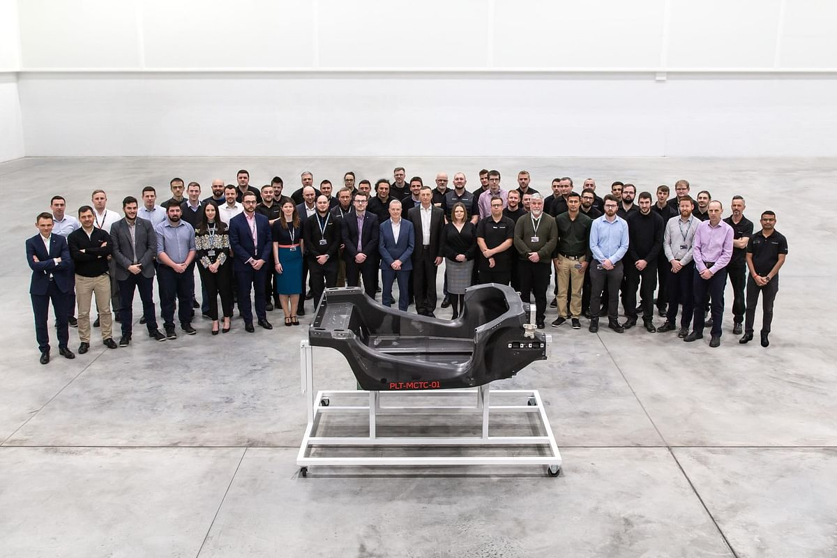 McLaren innovation centre delivers its first prototype carbon fibre chassis for production
