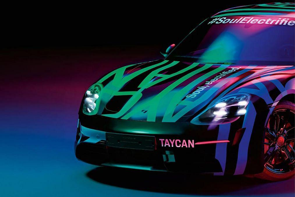 Porsche Taycan – new sketches tease production-ready design