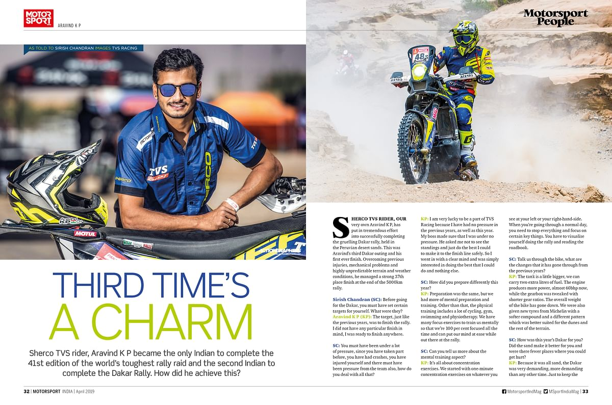 Big news from Team JK Tyre, as well as exclusive interviews with FIA president, all in the April issue of Motorsport India
