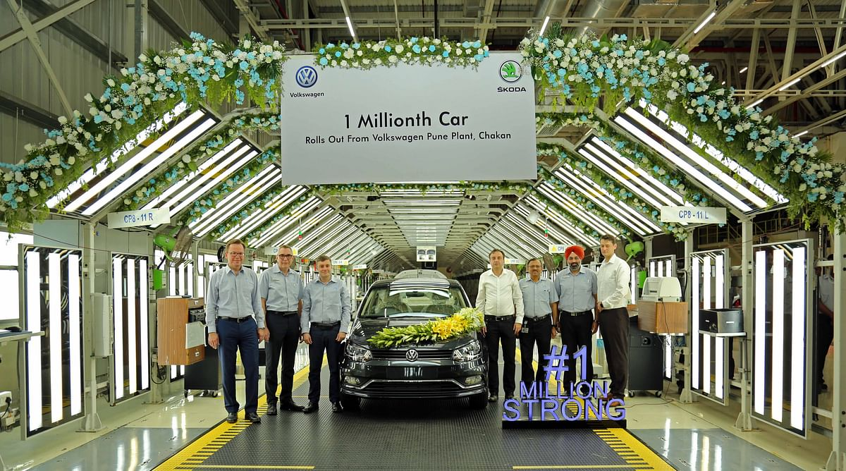 Volkswagen India rolls out One millionth car from its Pune Plant in Chakan