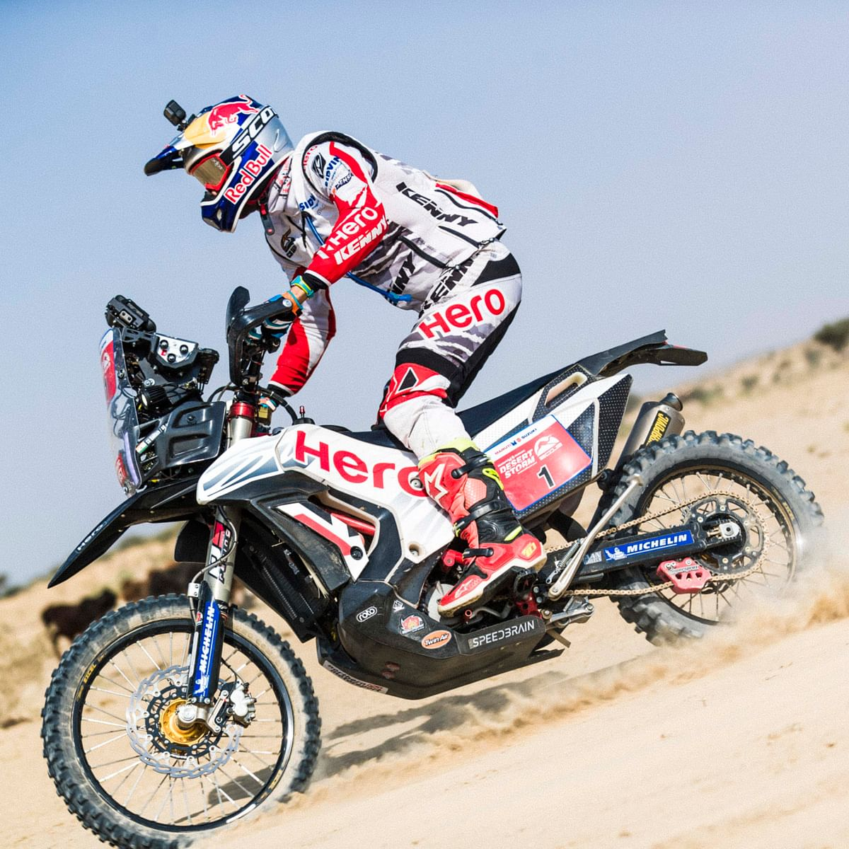 """The tracks are really fast but there is a certain element of risk"" says CS Santosh before he enters the Desert Storm"