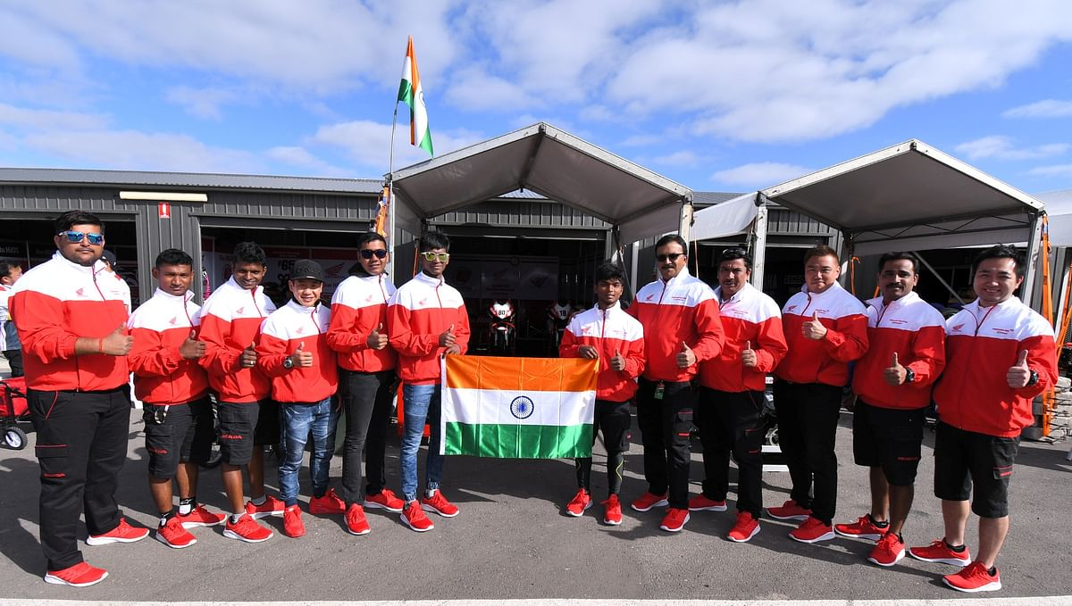 Honda India's Idemitsu racing team arrives in Thailand for Round 3 of the FIM ARRC