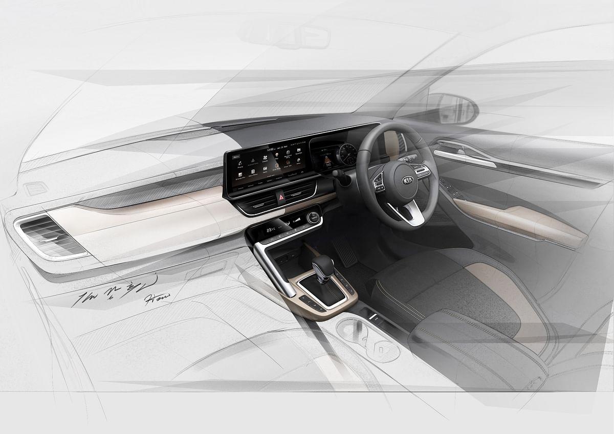 Kia's mid-size SUV for India – Interiors revealed!
