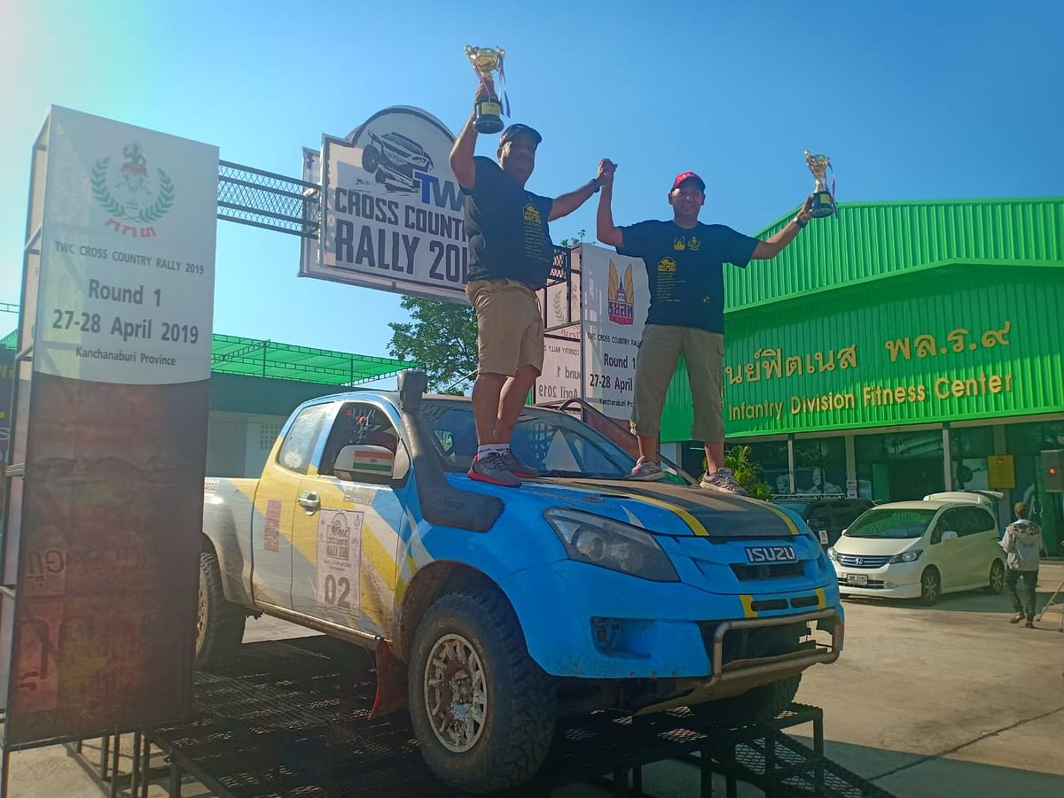 Fourth place for Sanjay Takale at the Thailand Cross Country Rally
